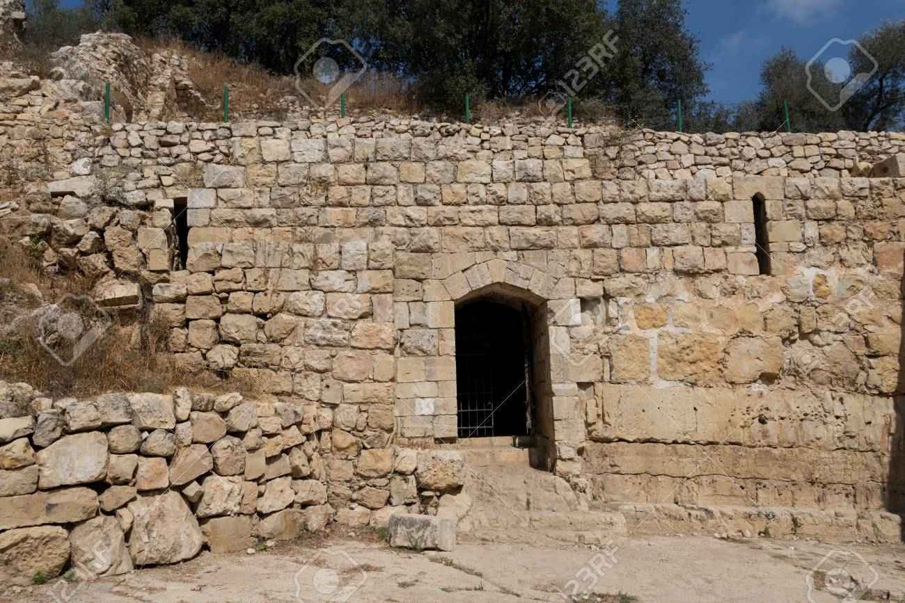 Visiting Ein Hemed And Castel National Parks Israel Stock Photo