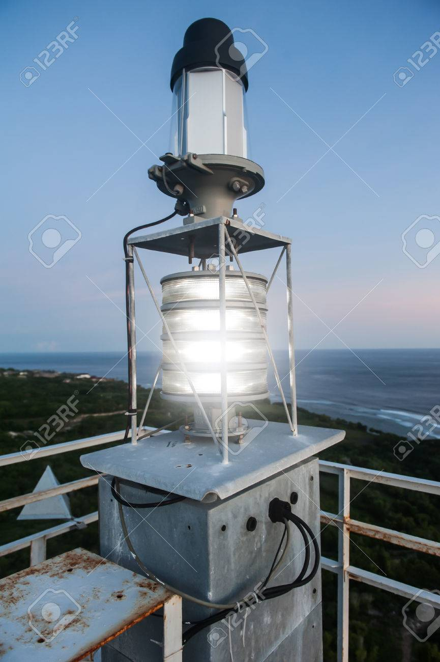 Metal Construction Lighthouse Ungasan Bali Indonesia Lamp