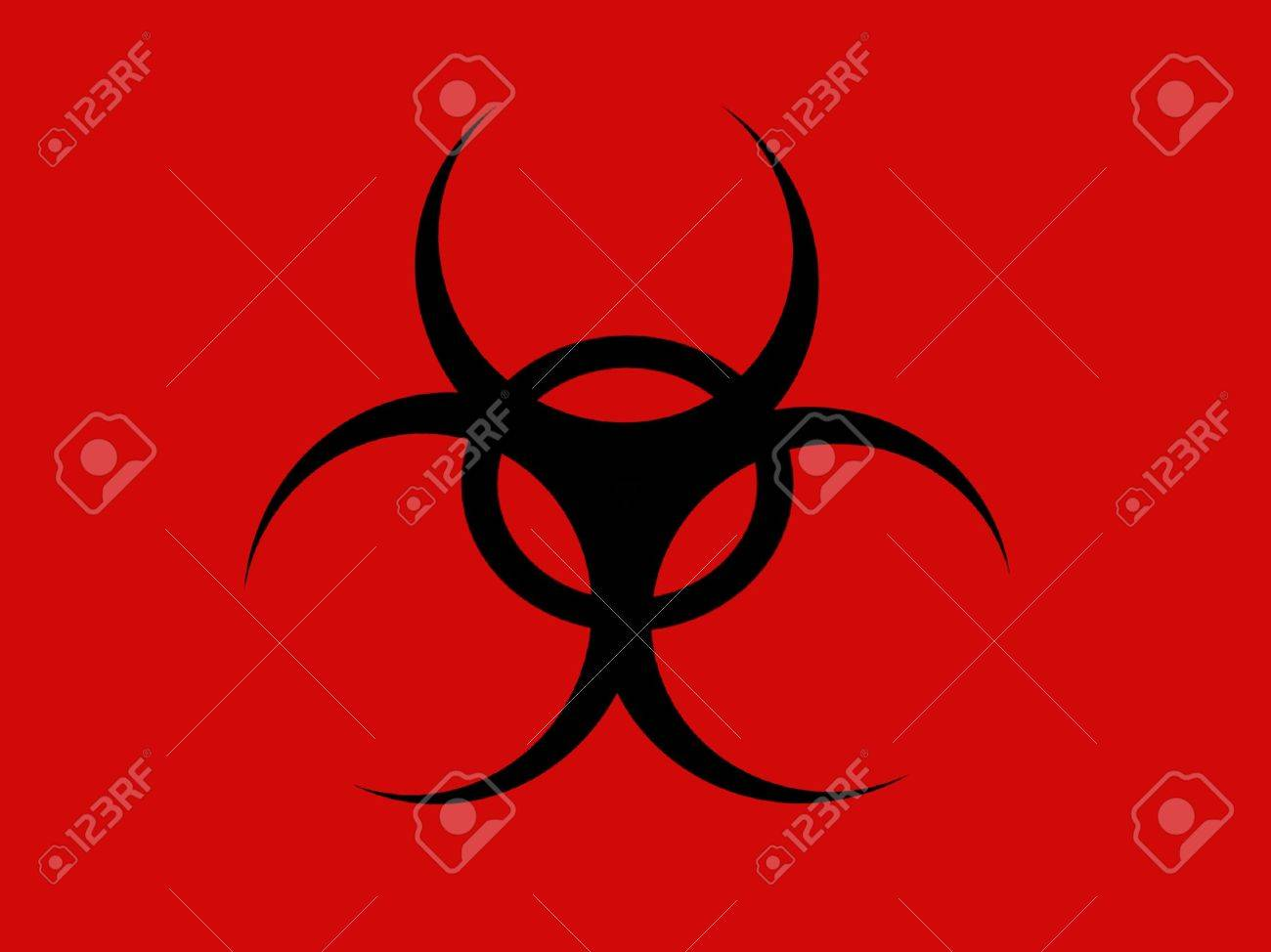 Biological Hazard Symbol Or Icon Stock Photo Picture And Royalty