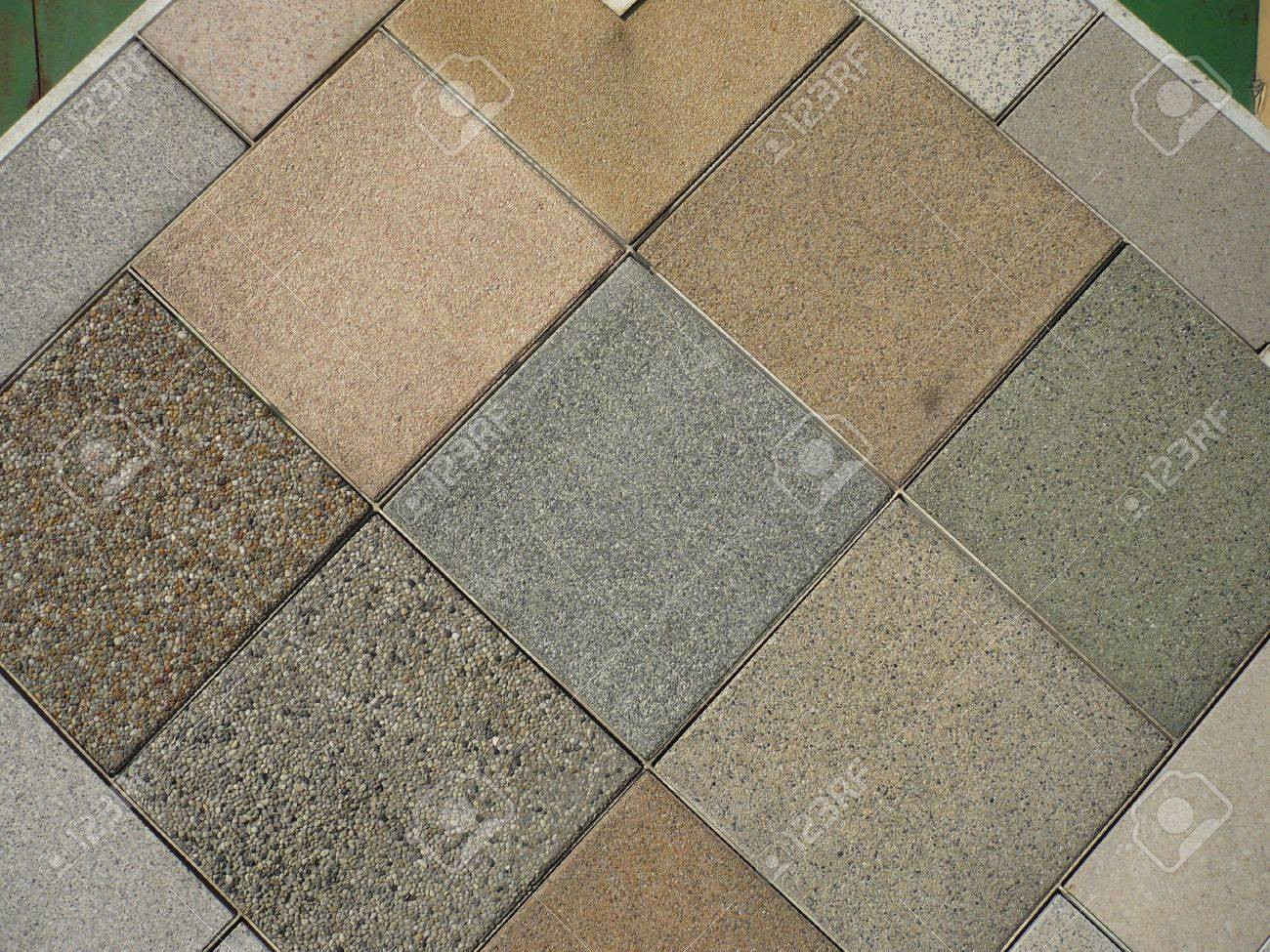 Cast Stone And Floor Tile Samples Stock Photo Picture And Royalty