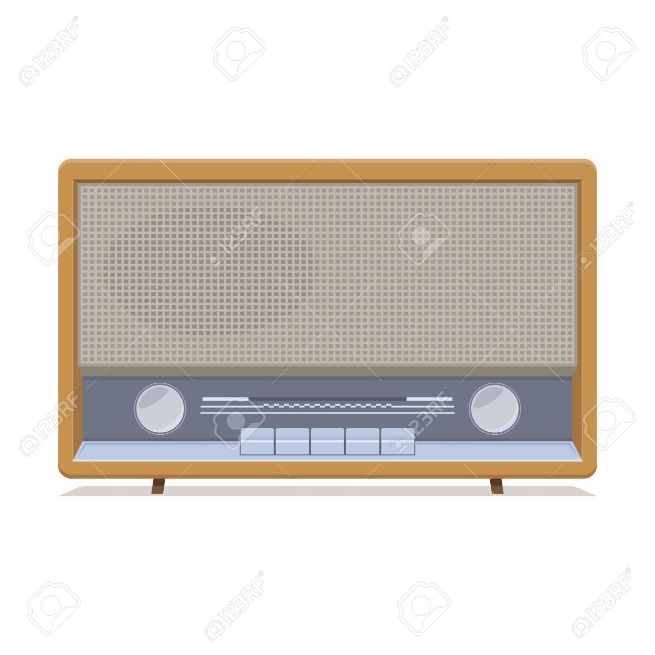 Radio retro  Old Radio  Illustration of an old radio receiver