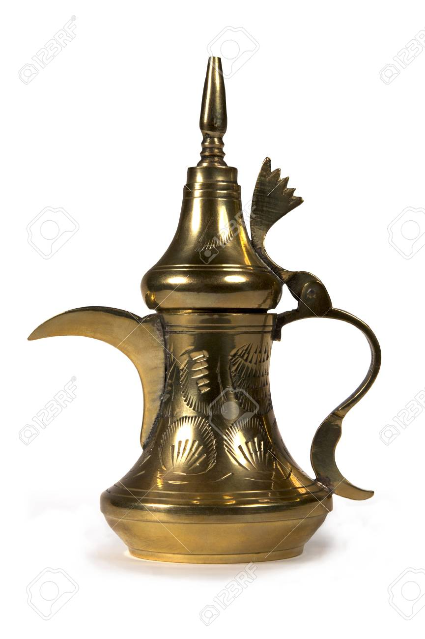Old Asian kettle decorative, isolated on a white background. Stock Photo - 12290240