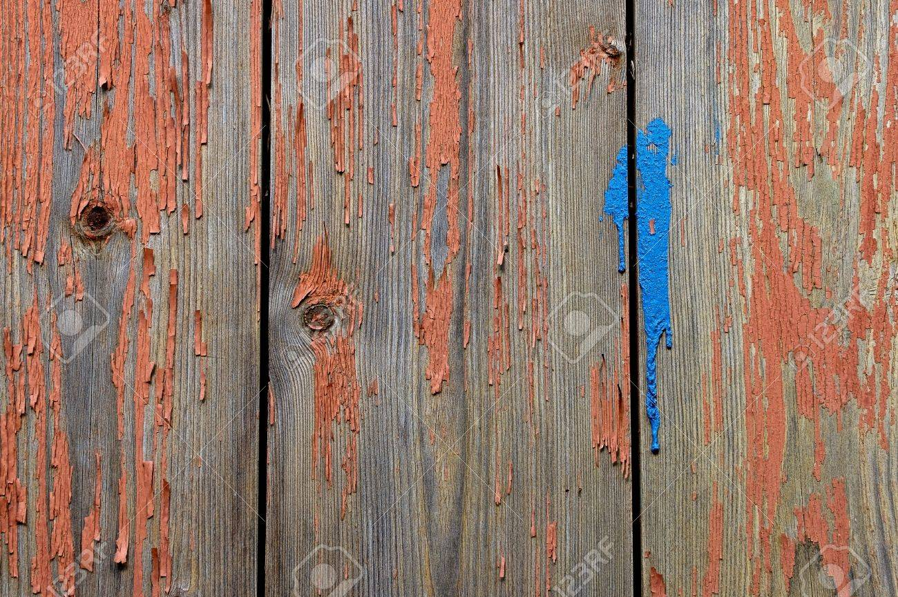 Old worn painted boards Stock Photo - 14371667
