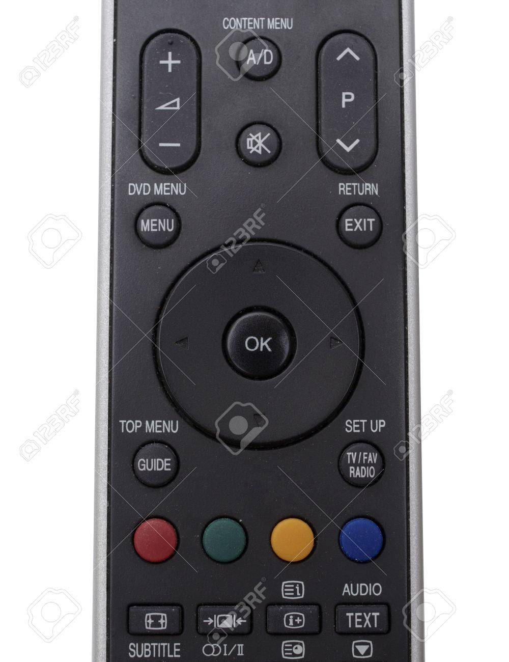 Black Tv Telecommande Pres De La Vue De Dessus Banque D Images Et