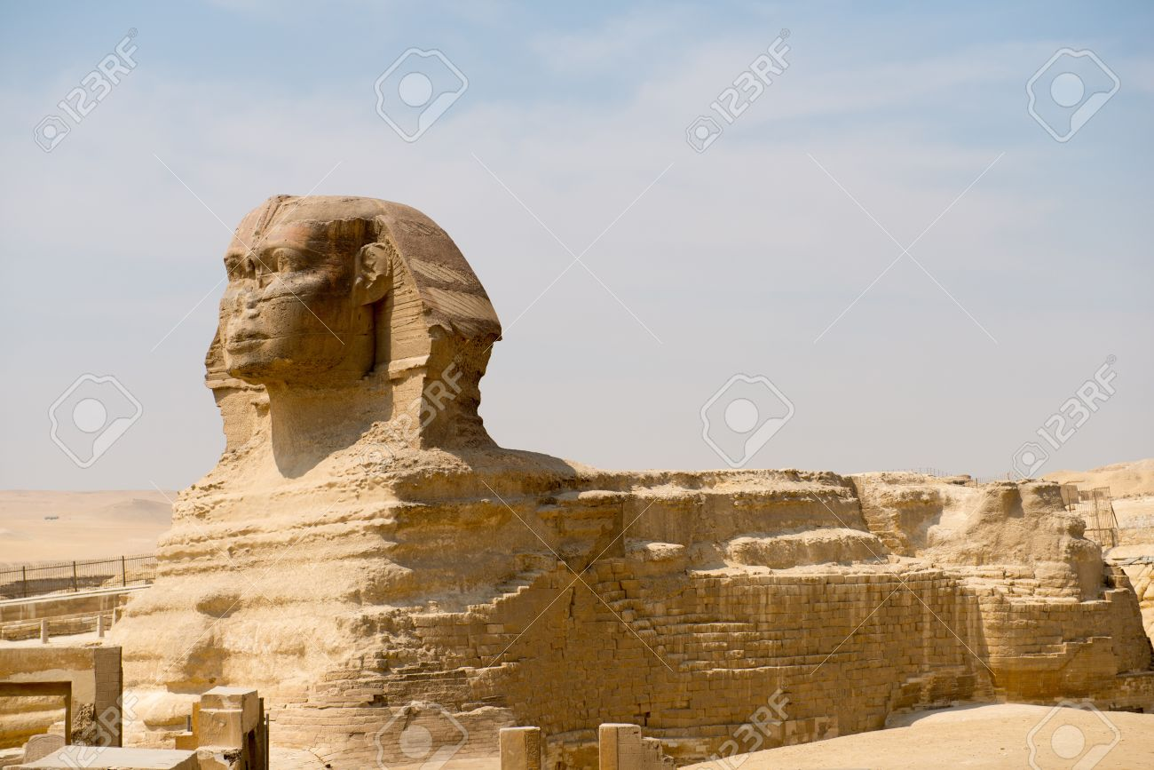 worksheet Sphinx Statue famous ancient statue of sphinx in giza egypt stock photo 20718557