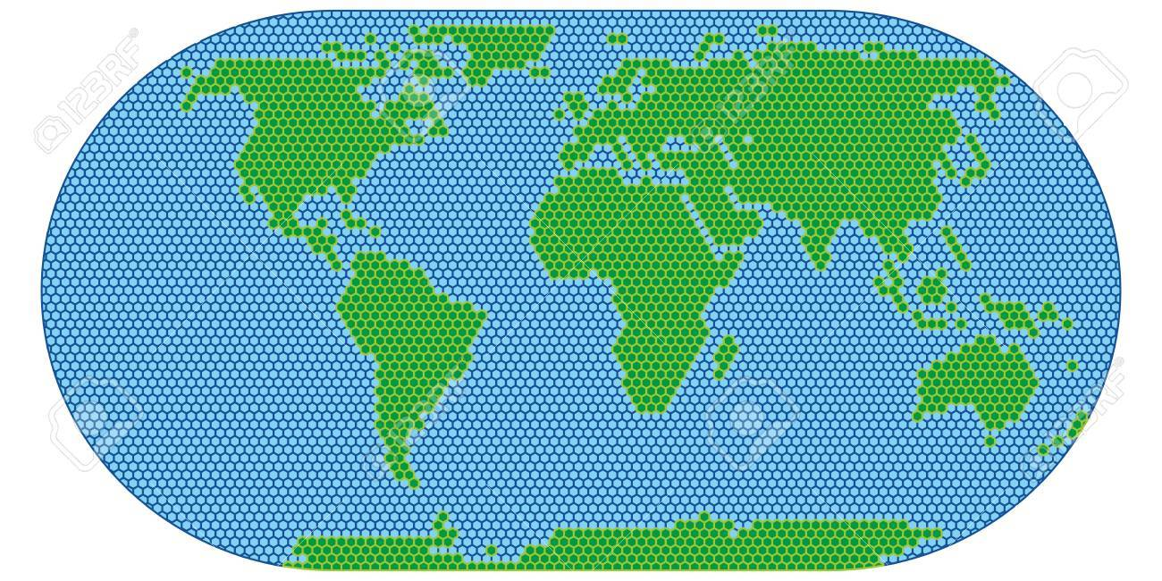World map scan stylized vector image flat globe royalty free vector world map scan stylized vector image flat globe gumiabroncs Choice Image
