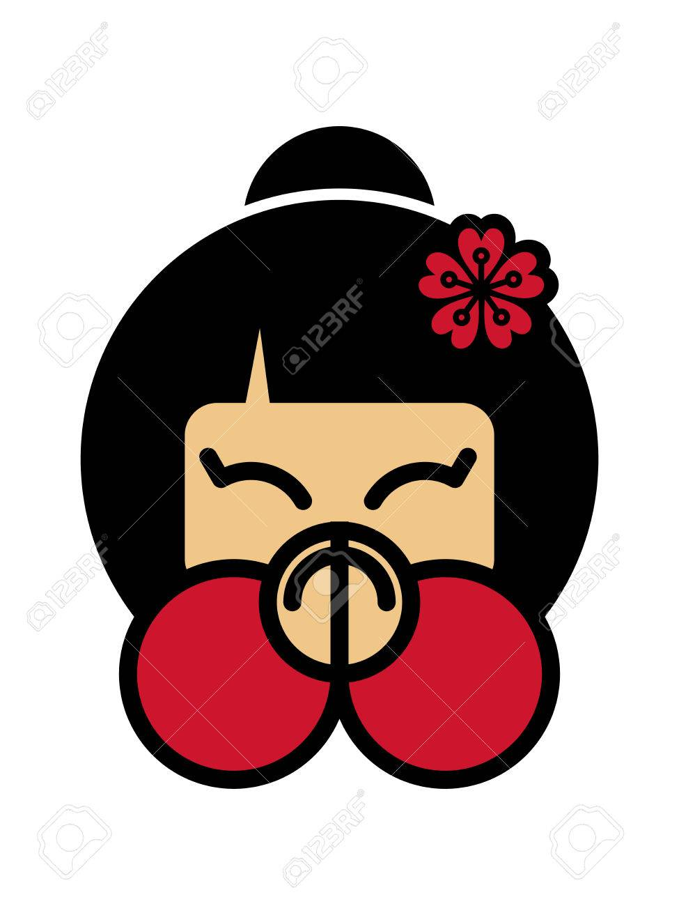 両手を顔の前に折り返されているありがとうかわいい日本人の女の子