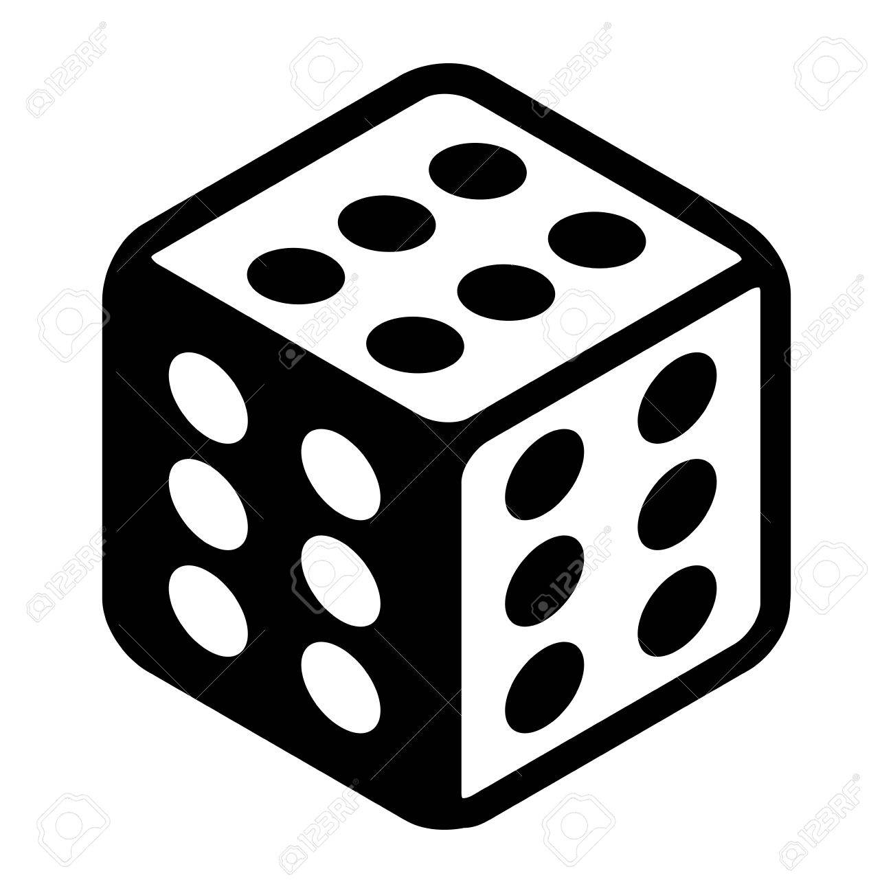 Cheat lucky dice with six spots on every side  Great luck symbol