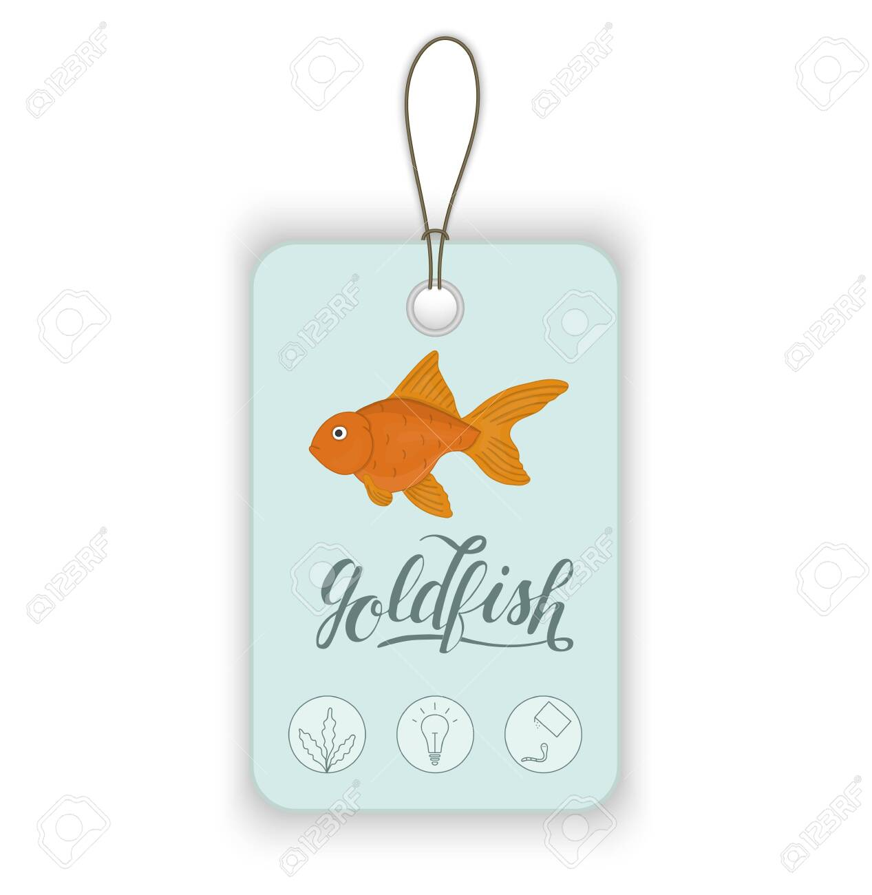 Vector Price Tag With Aquarium Fish And Lettering Illustration Royalty Free Cliparts Vectors And Stock Illustration Image 123747246