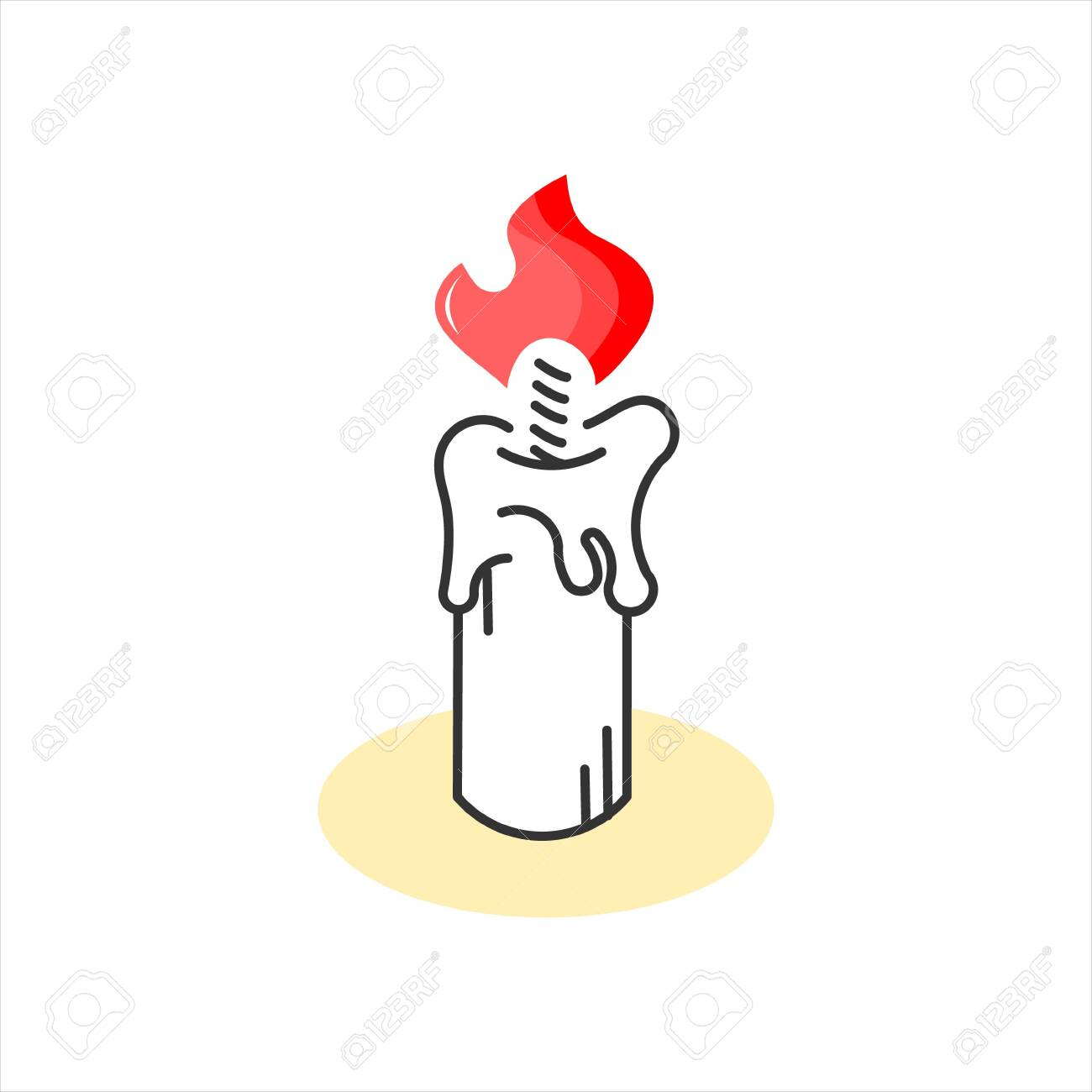 Candle Sticker Cartoon Design Template Idea Best For Print Art Royalty Free Cliparts Vectors And Stock Illustration Image 156442374