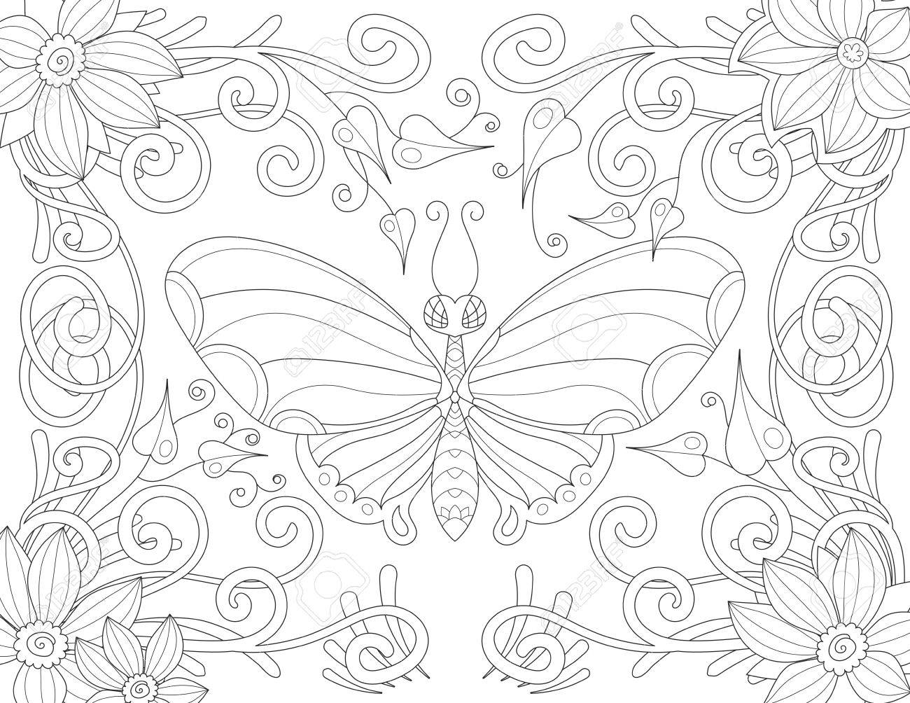 Único Mariposas Para Colorear Para Adultos Ornamento - Ideas Para ...