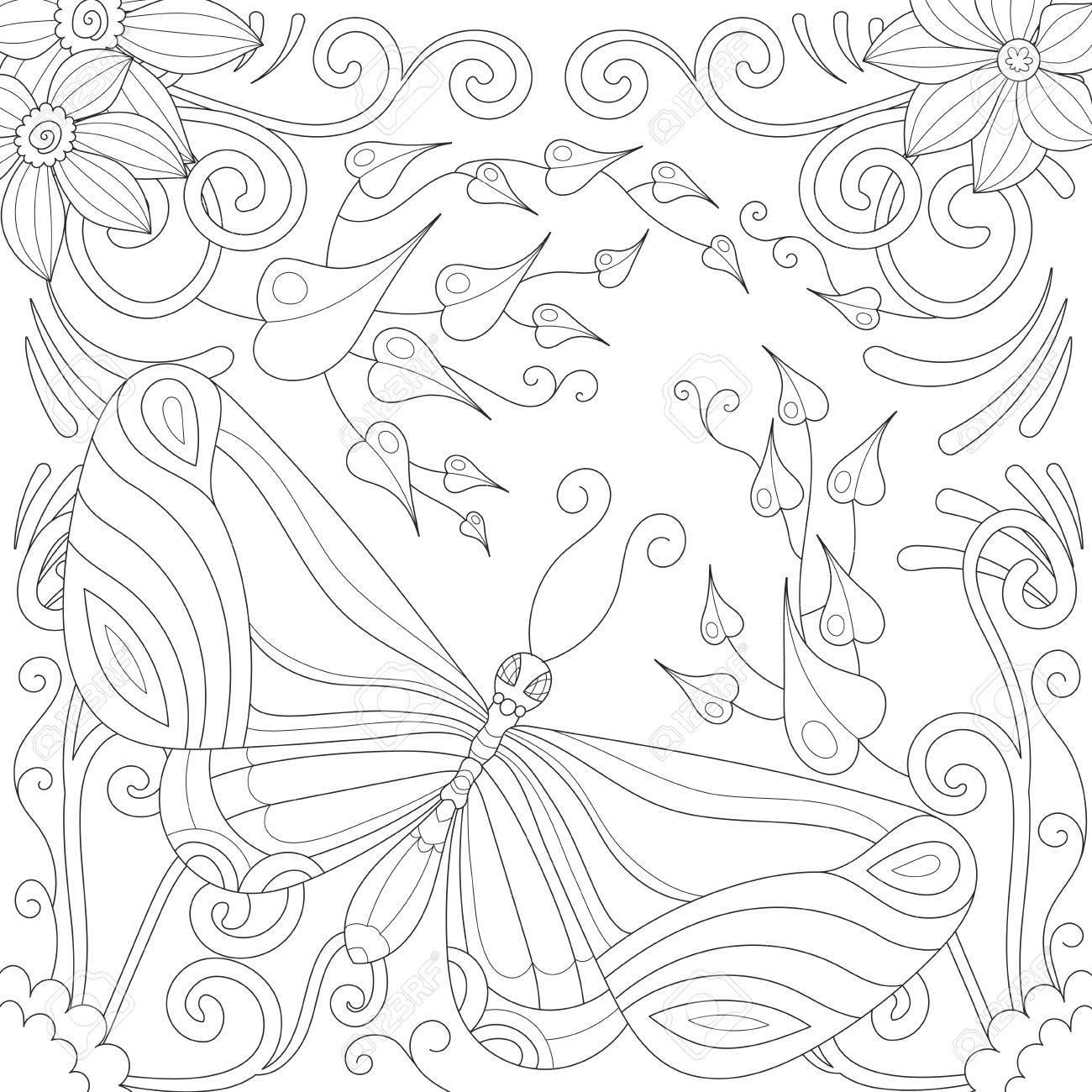 Lujoso Mariposas Para Colorear Libros Bandera - Dibujos Para ...