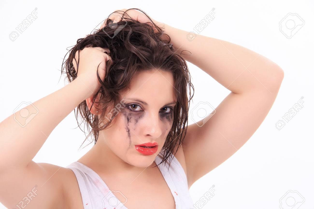 Секси девушки с потекшей тушью 1 фотография