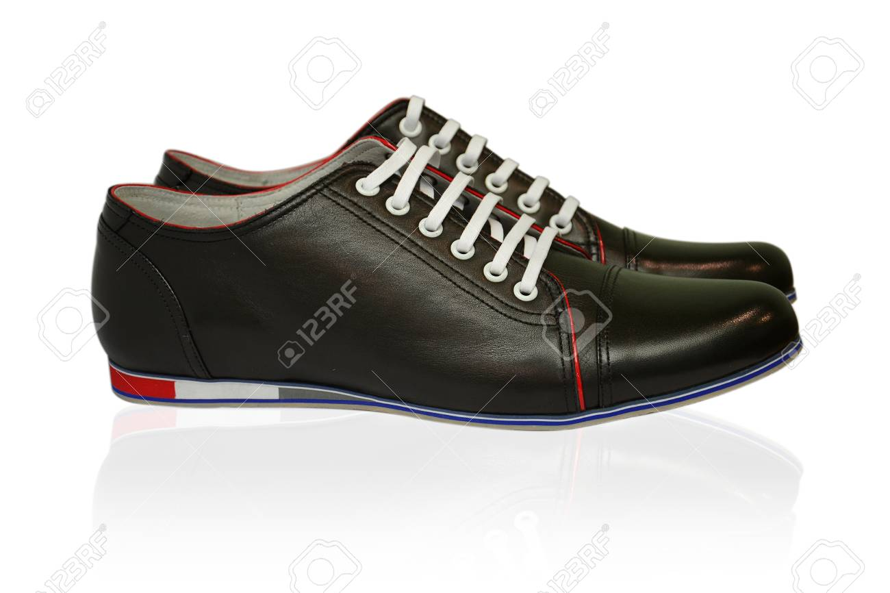 Man shoes on white background Stock Photo - 13206699