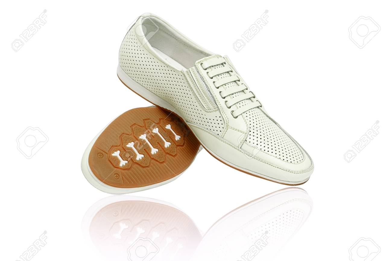 Man shoes on white background Stock Photo - 13206664