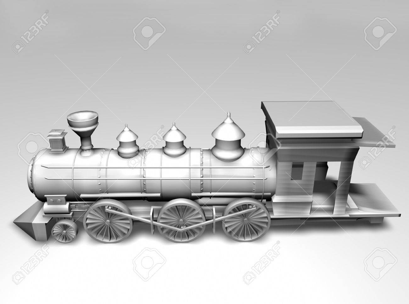 3d train on white background Stock Photo - 13600137