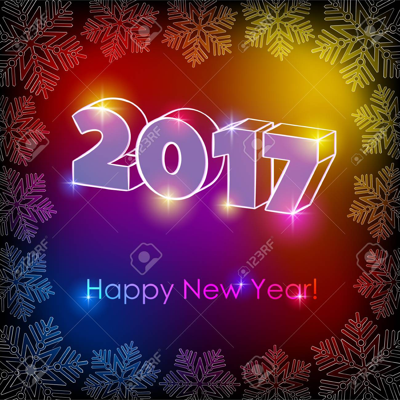 Illustration of happy new year greeting on a colorful background illustration of happy new year greeting on a colorful background stock vector 69114758 kristyandbryce Image collections