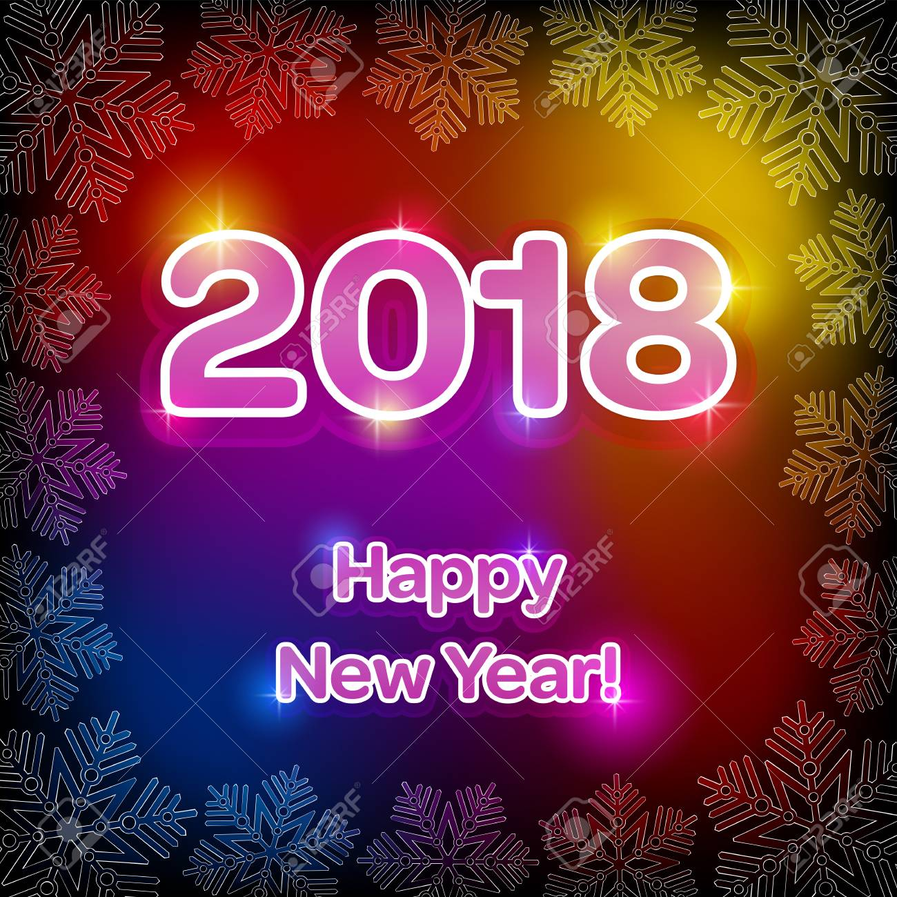 Illustration of happy new 2018 year greeting on a colorful illustration of happy new 2018 year greeting on a colorful background stock vector 87912835 kristyandbryce Image collections