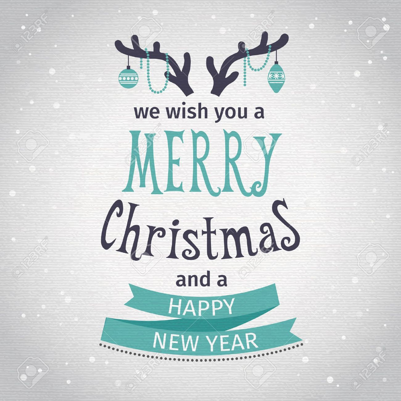 Greeting Card. Merry Christmas lettering. Vector illustration - 33691745