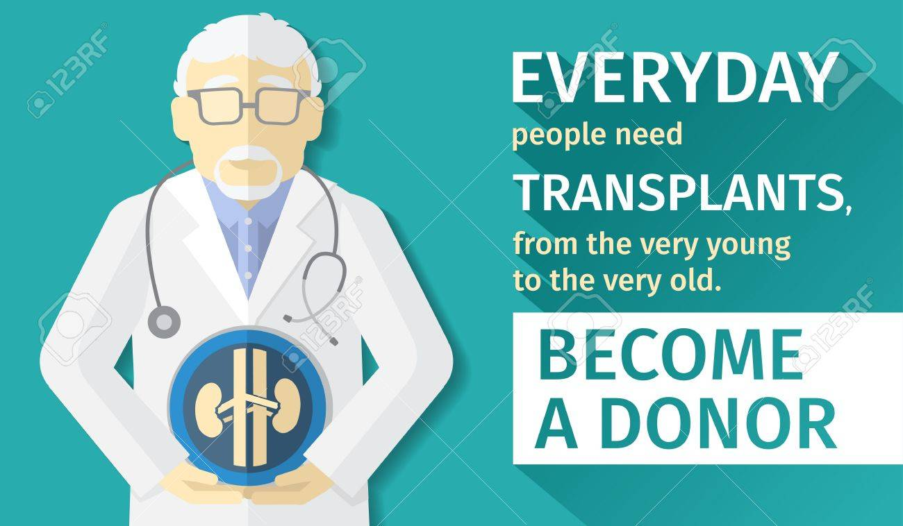 Poster design medical - Illustration Of Flat Design Poster Transplantation Organs Become A Donor Stock Vector