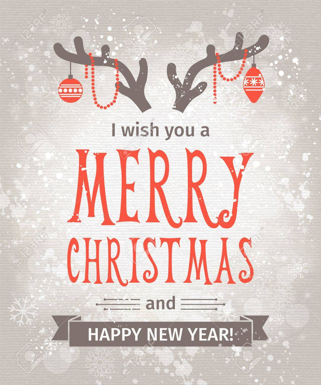 Greeting Card. Merry Christmas lettering - 34209881