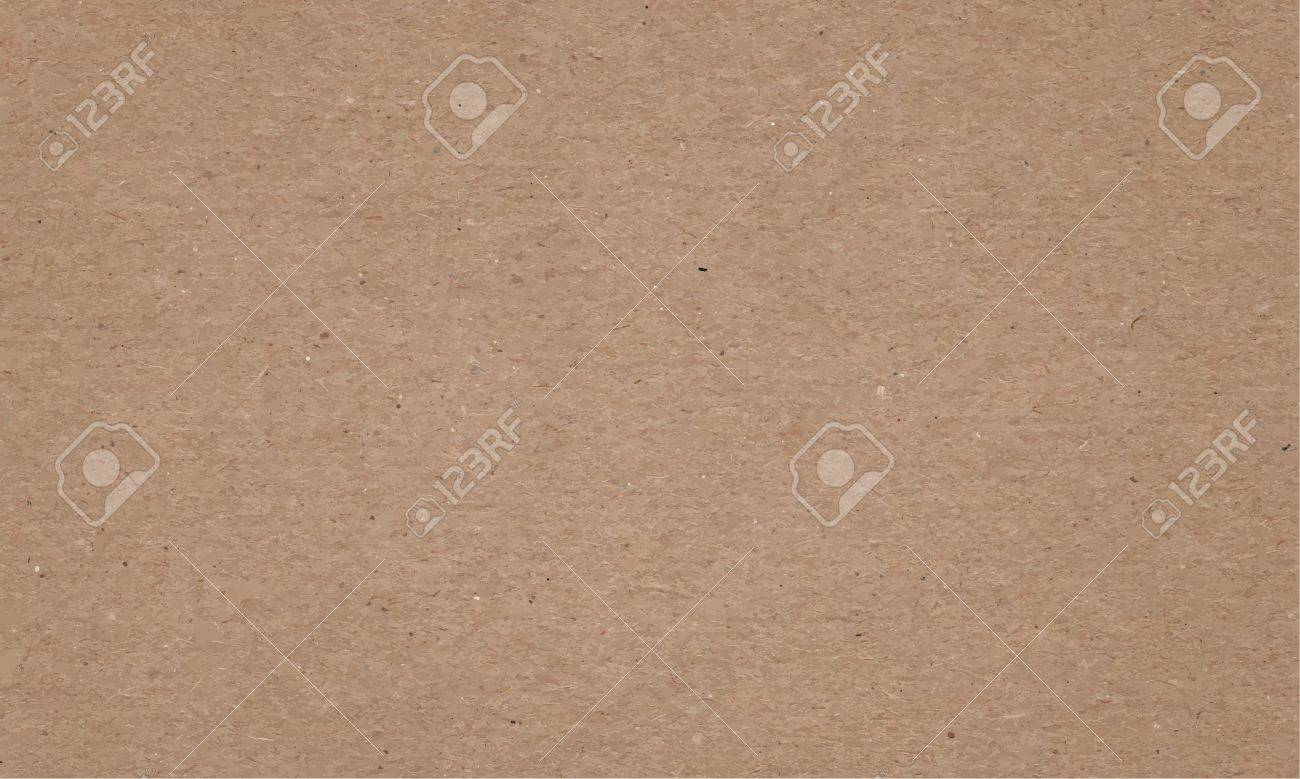 Realistic brown cardboard stained vector texture. horizontal background - 35701949