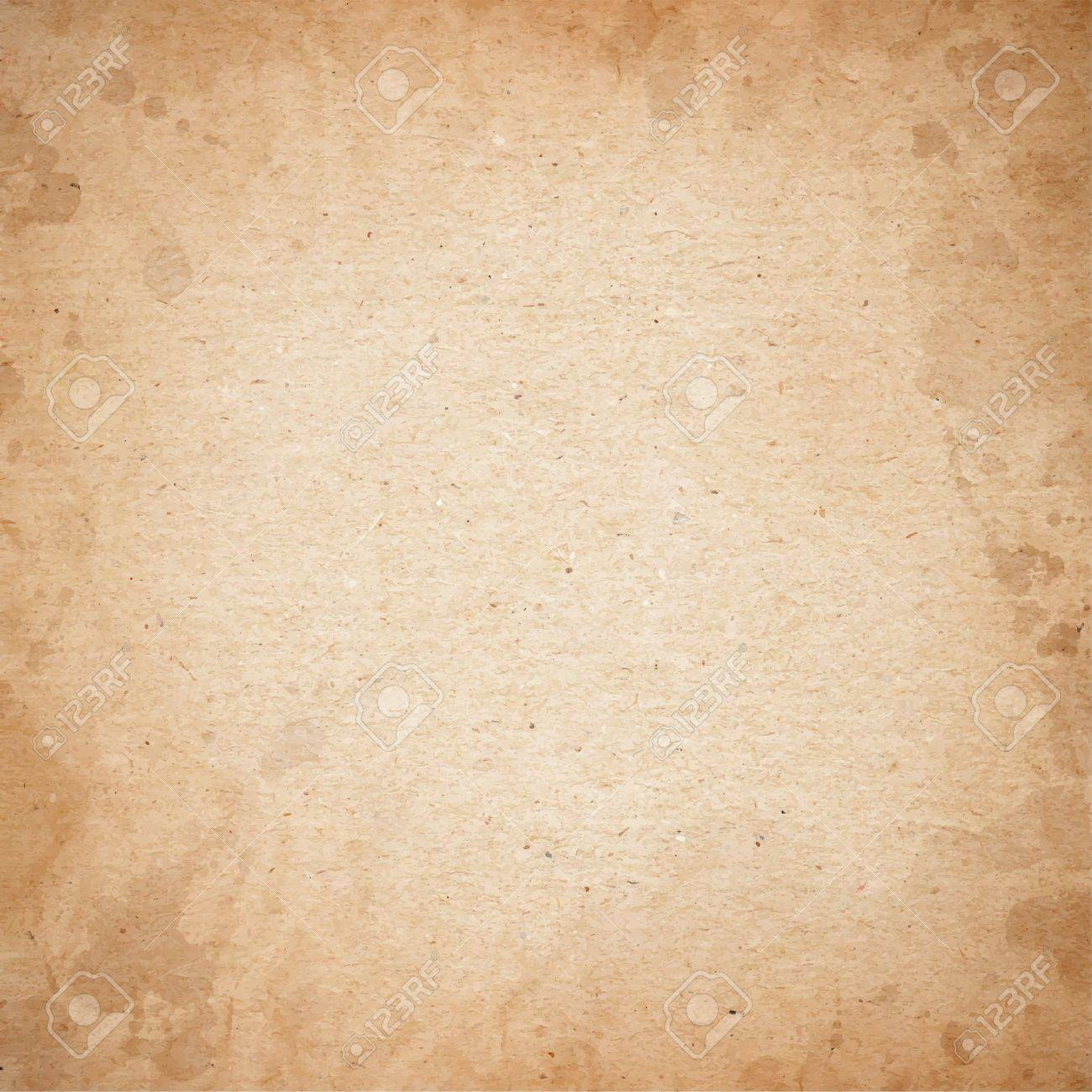 Realistic brown cardboard stained vector texture - 35701987