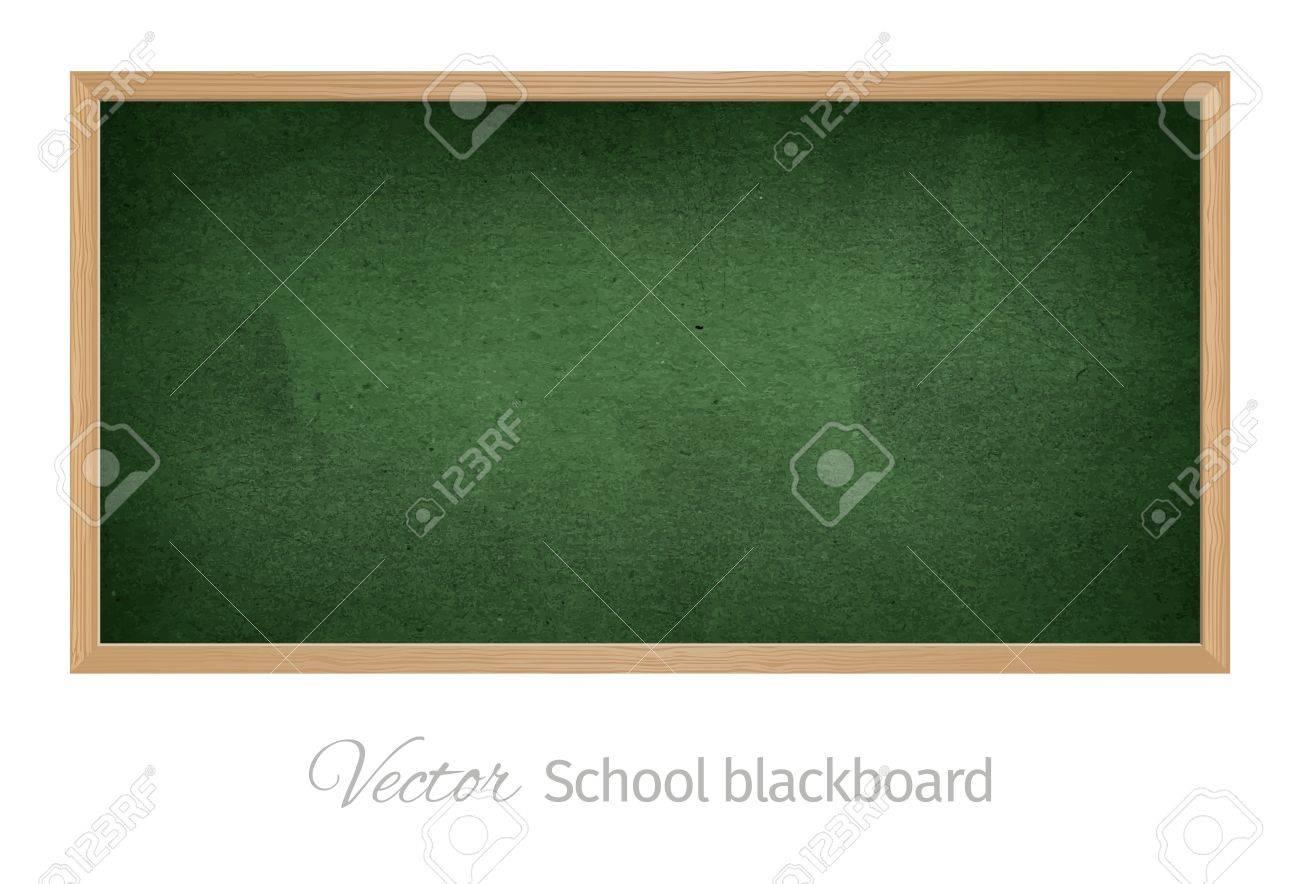 Black school blackboard. Isolated vector object - 36898576