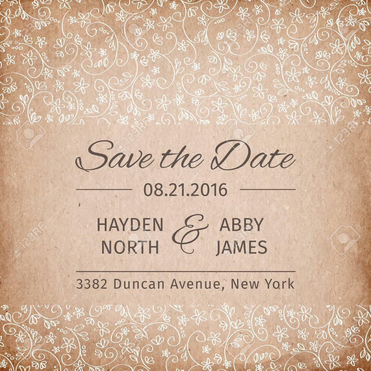 save the date wedding invitation template vectorillustration royalty