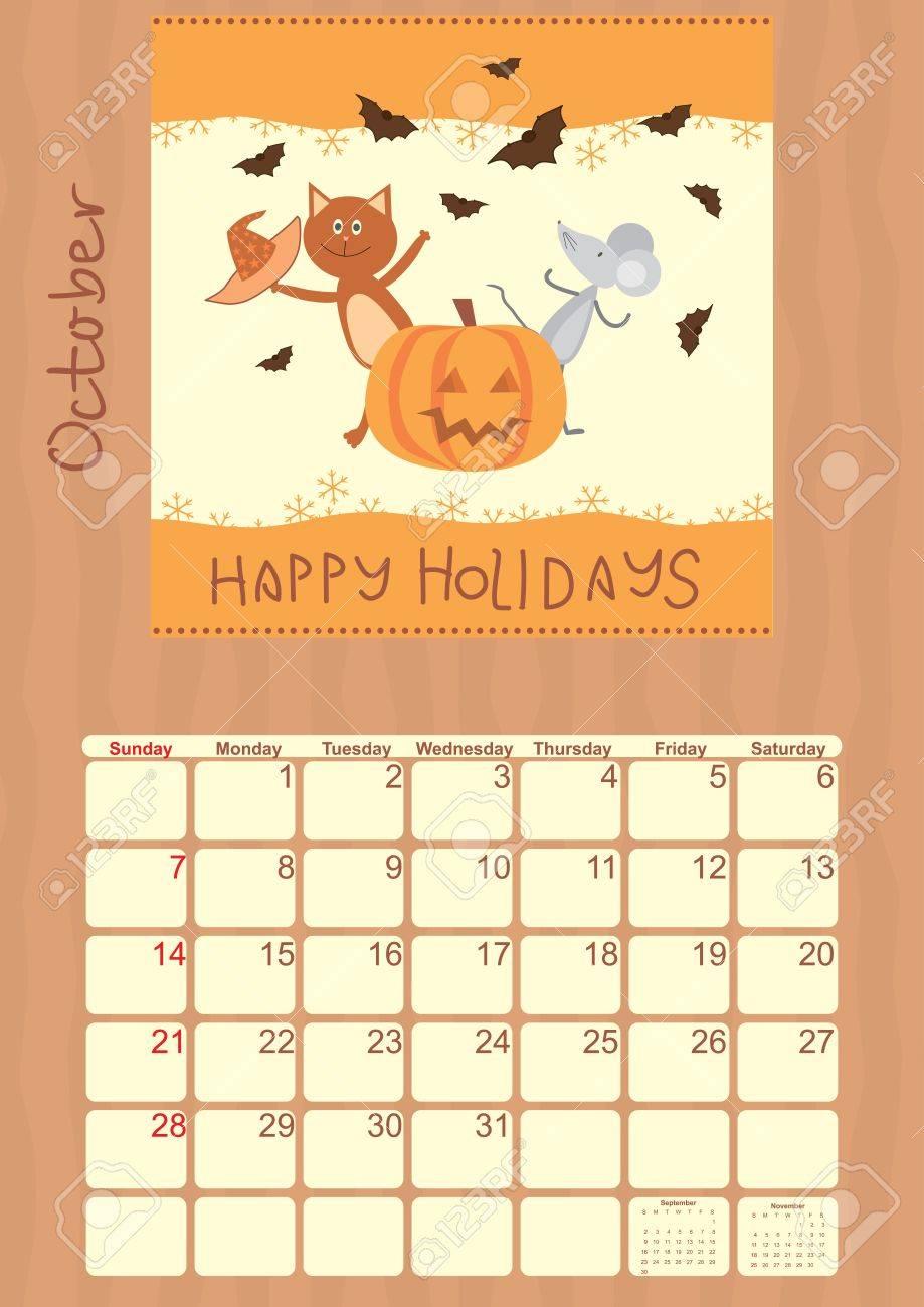 calendar for October 2012 Stock Vector - 14317924