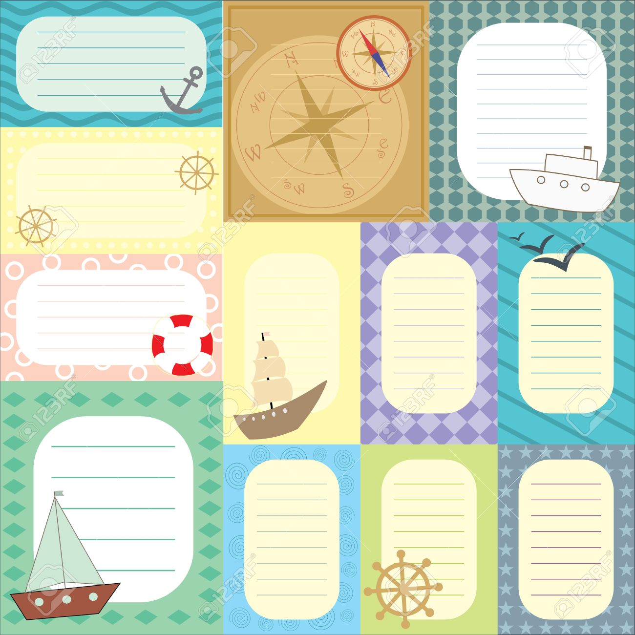Collection Of Tags For Scrapbook Royalty Free Cliparts Vectors And