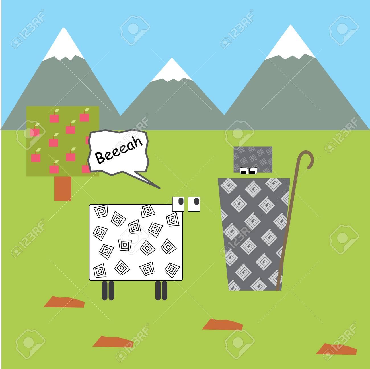 georgian landscape illustration Stock Vector - 14083529