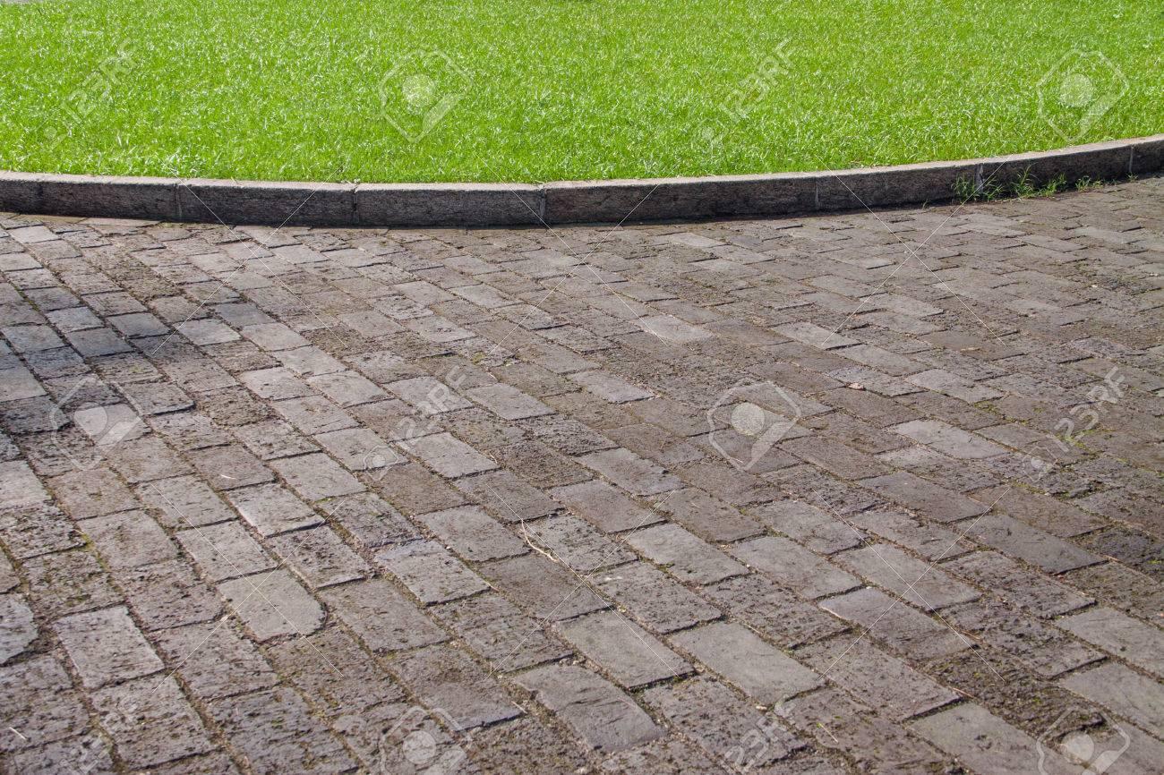 Flagstone floors and grassland - 41551095