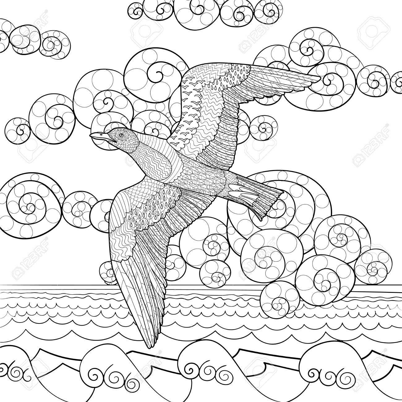 Malvorlage Mowe Fliegend Coloring And Malvorlagan