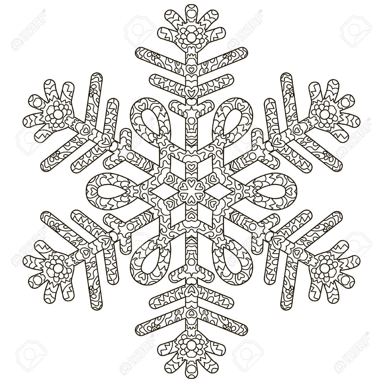 antistress snowflake. Template for cover, poster, t-shirt or..