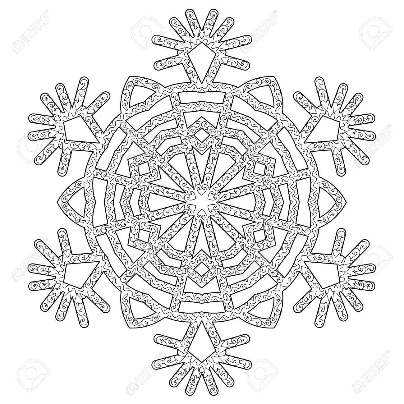 Nett Schneeflocke Malvorlagen Für Erwachsene Zeitgenössisch ...