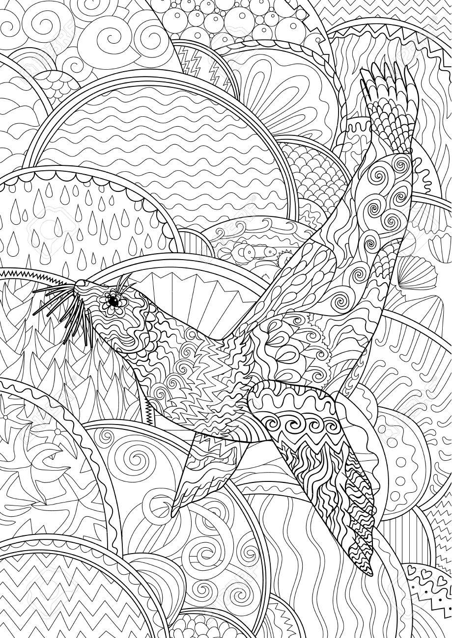 Free Sea Lion Coloring Pages | 1300x920