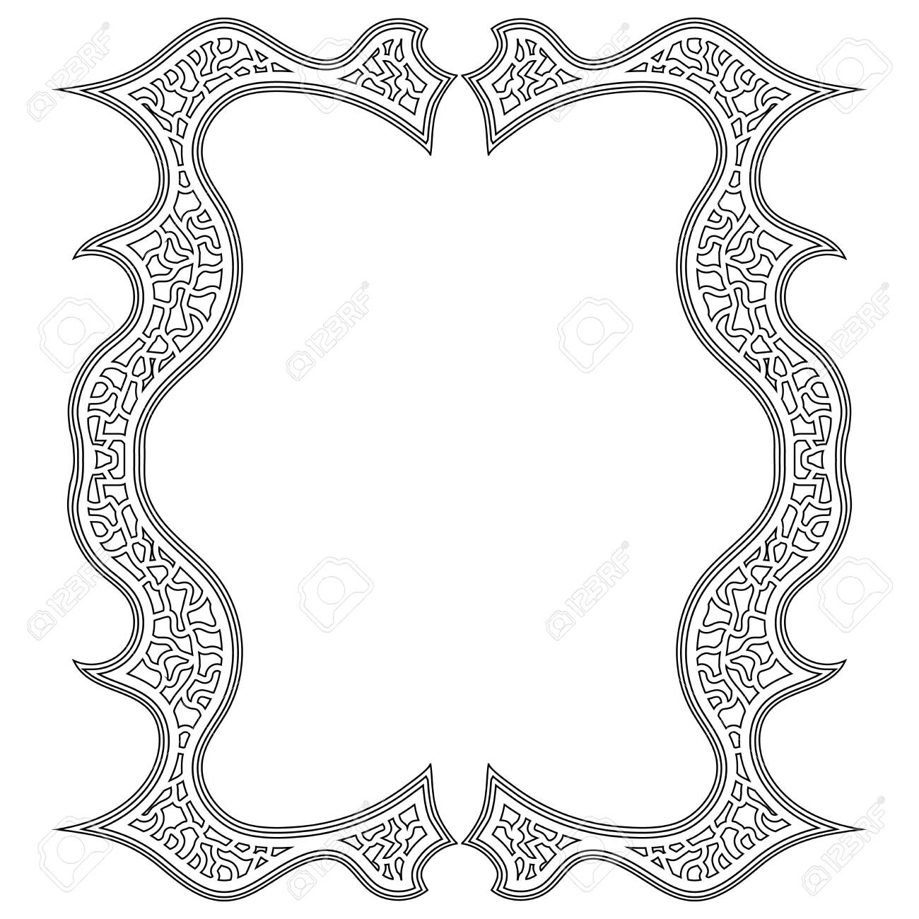 Illustration Of A Tangled Frame For Antistress Coloring Book Royalty Free Cliparts Vectors And Stock Illustration Image 137167037