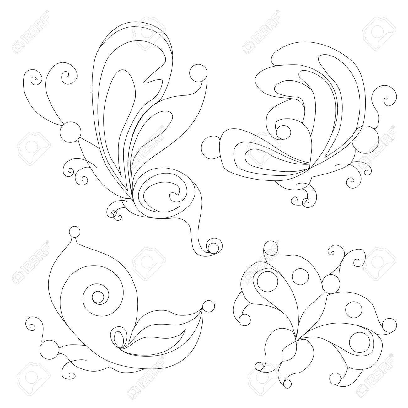 Butterfly. Coloring Books For Adults. Royalty Free Cliparts, Vectors ...