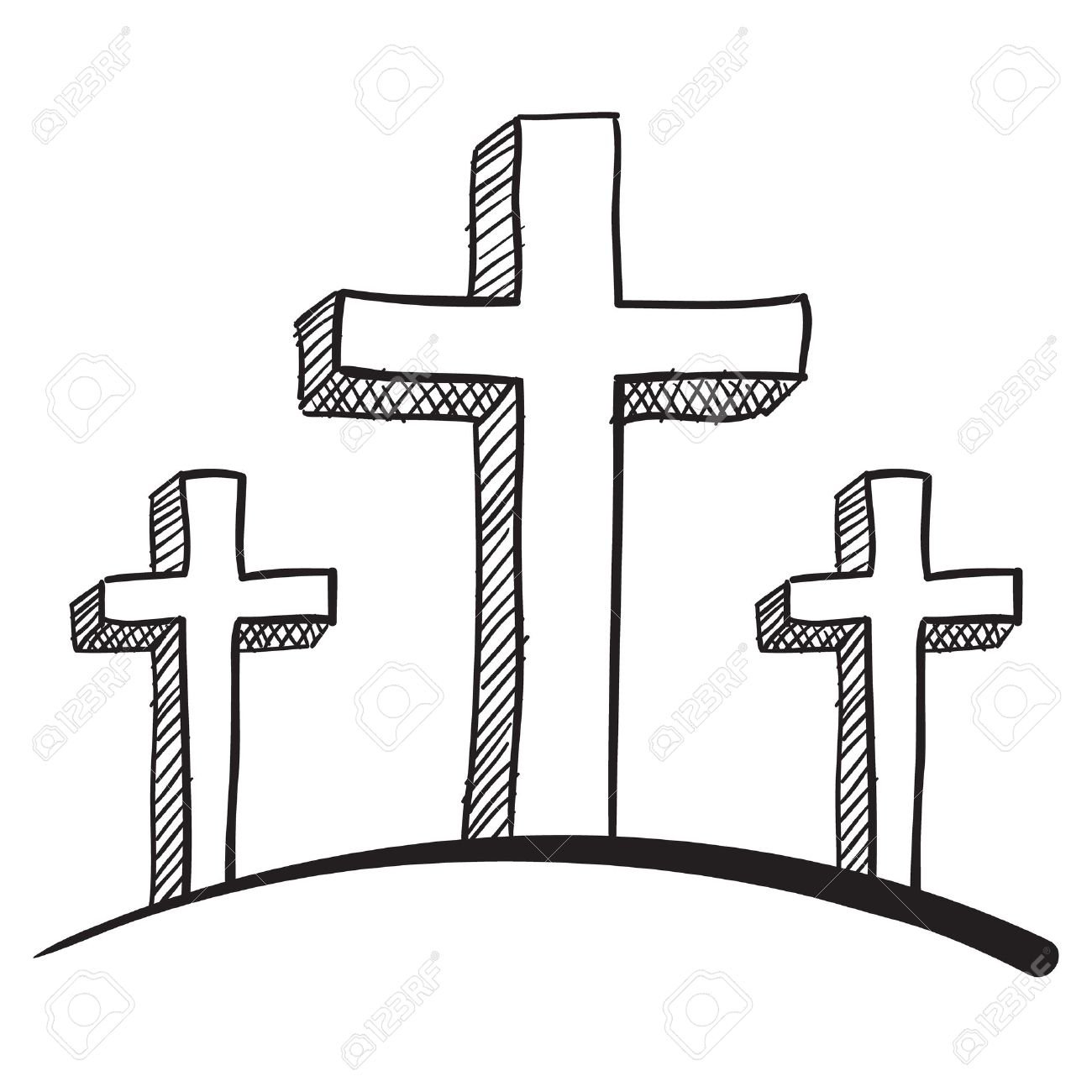 Doodle style calgary crucifix vector illustration Stock Vector - 11547553
