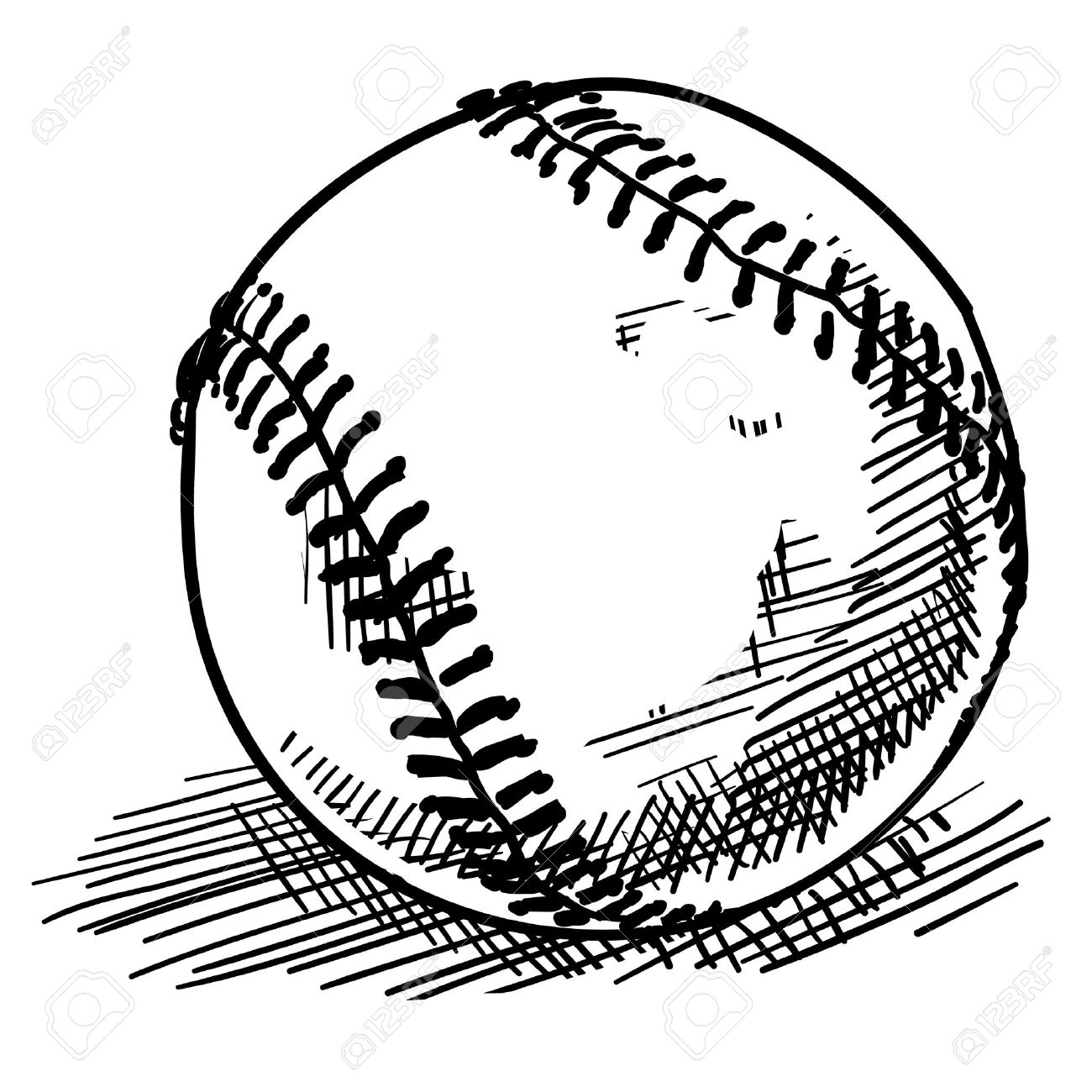 Doodle Style Baseball Sports Vector Illustration Royalty Free ...