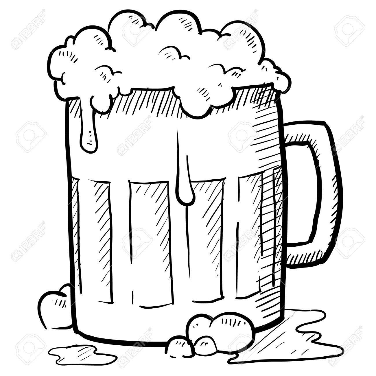 Doodle Style Frothy Beer Mug Vector Illustration Stock Photo Picture And Royalty Free Image Image 11575139