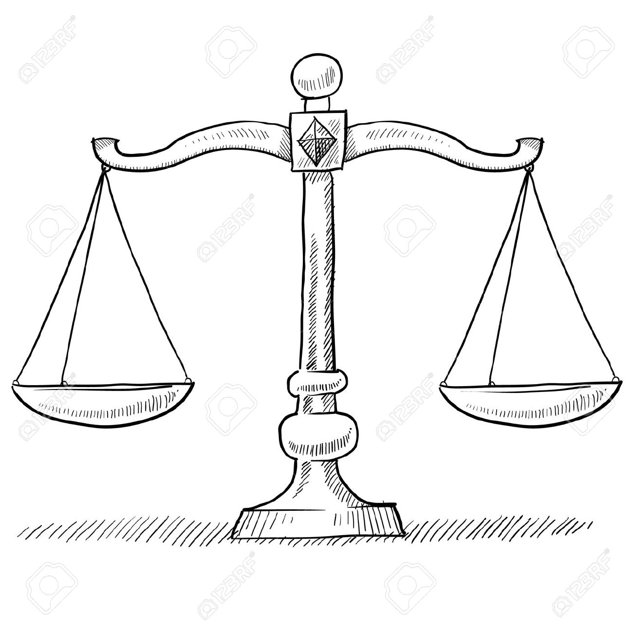 Doodle style scales of justice vector illustration Stock Photo - 11575046