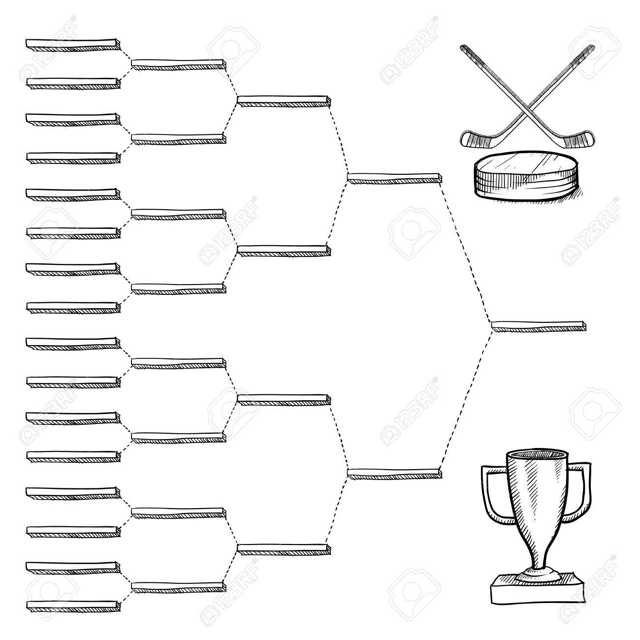 Blank Professional Hockey Playoff Bracket Vector File With