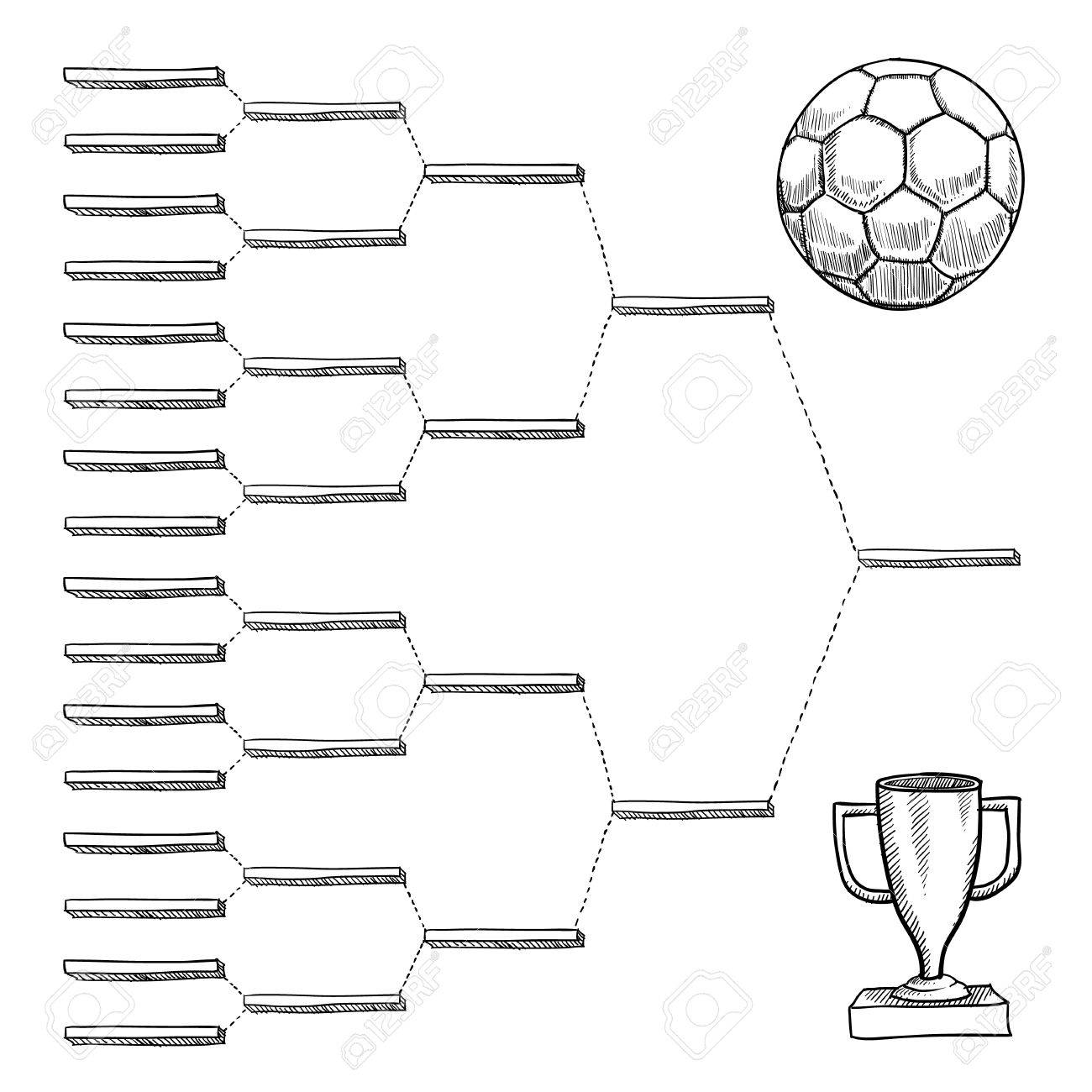 Blank international soccer playoff bracket - vector file with doodle style Stock Photo - 11575086