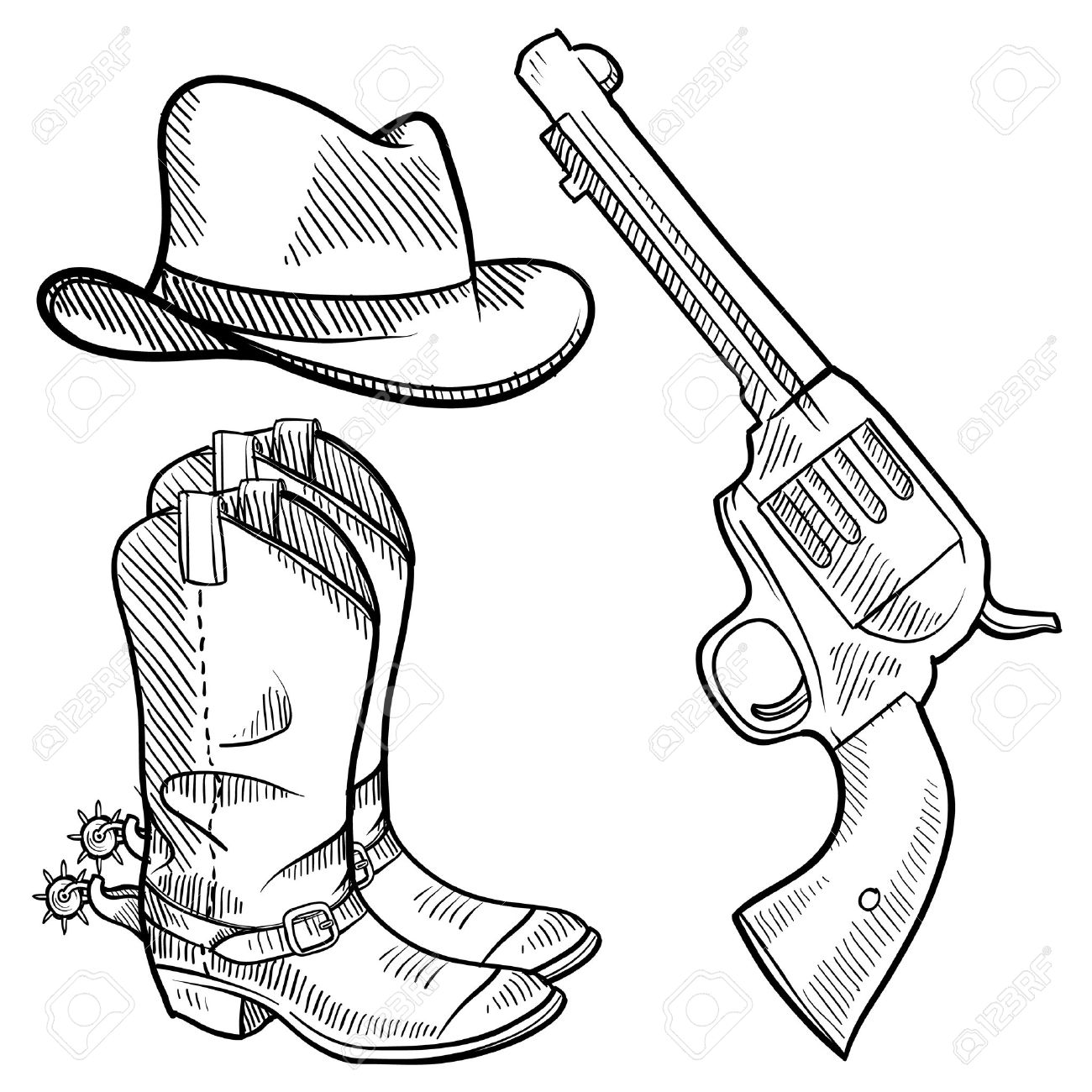 2,609 Cowboy Boots Stock Vector Illustration And Royalty Free ...