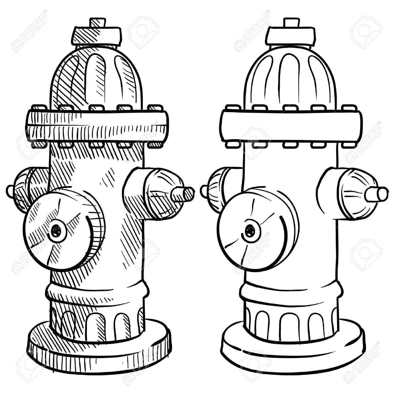 Doodle style fire hydrant illustration - 13258762