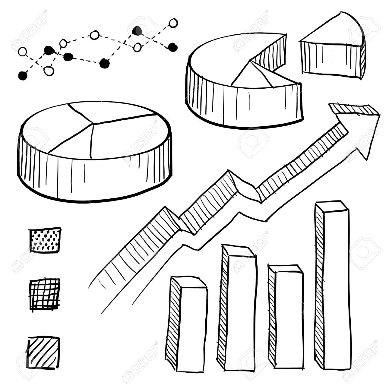 Doodle style charts graphs and plotting components illustration doodle style charts graphs and plotting components illustration set includes parts for pie charts nvjuhfo Image collections