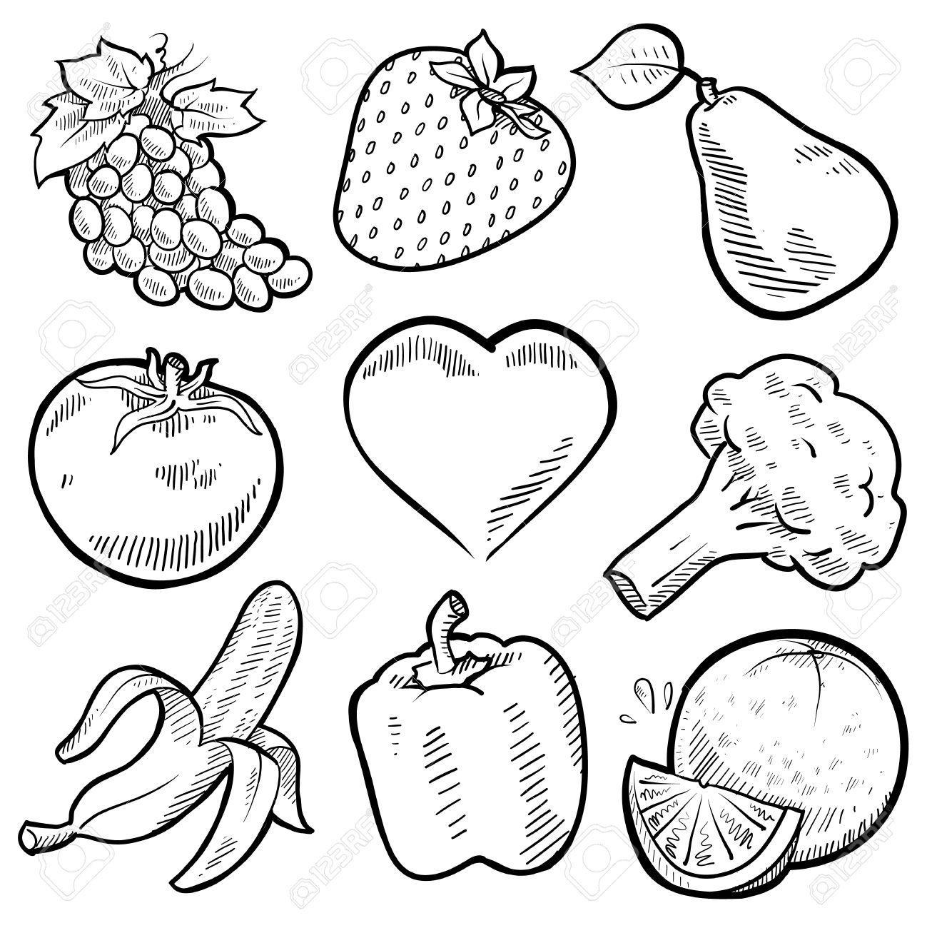 Овощ рисунок карандашом