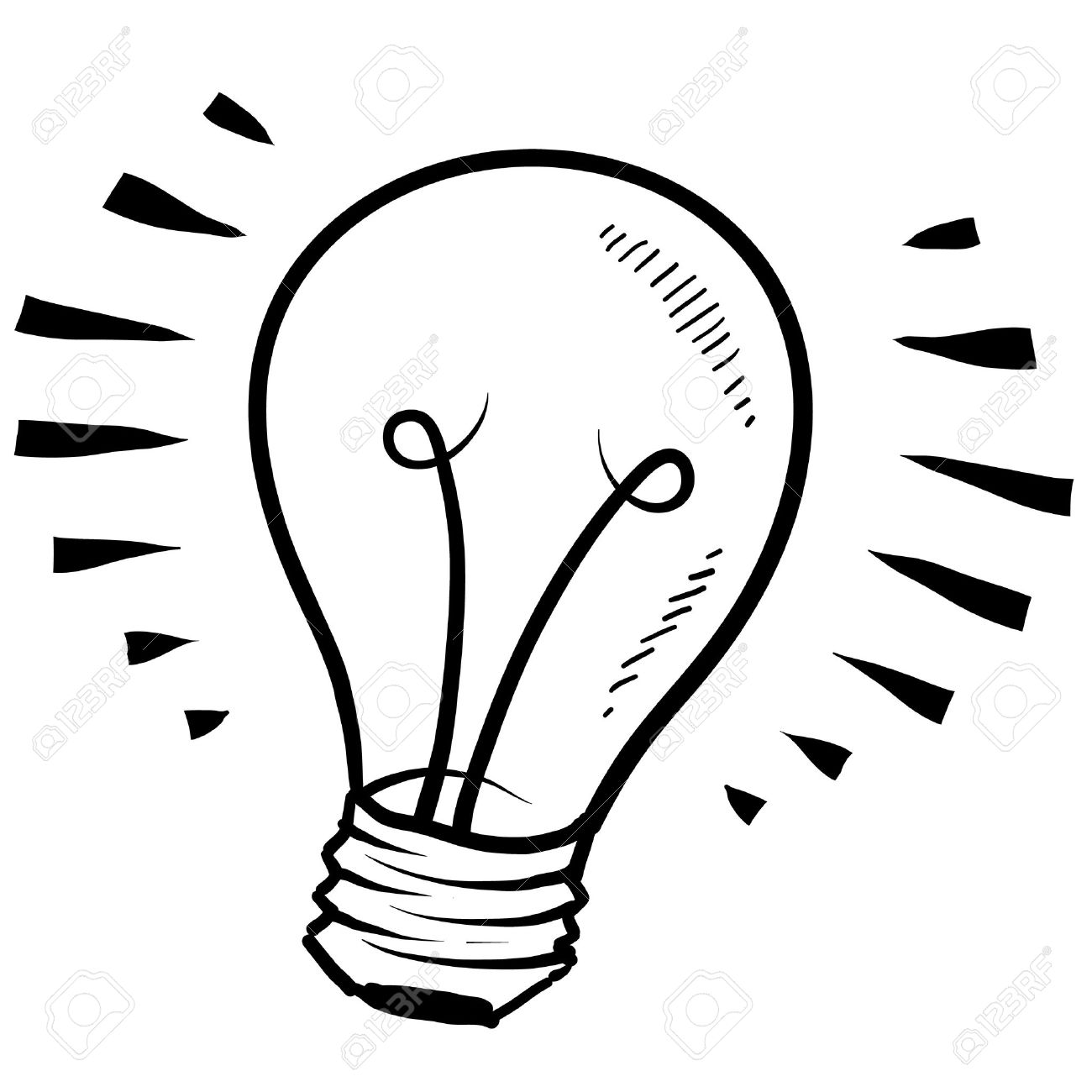 Doodle Style Light Bulb Or Idea Symbol Sketch In Vector Format Stock Photo